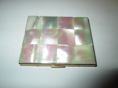 Vintage Elgin American Mirror Compact with Mother of Pearl