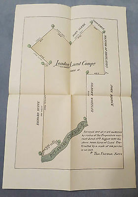 1699/1709 LONDON LAND COMPANY SURVEYS CHESTER COUNTY PA ARCHIVES 3RD SERIES ngm