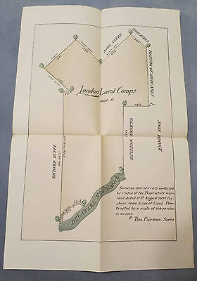 1699/1709 Two London Land Company Surveys Chester County Pa Archives 3Rd Series