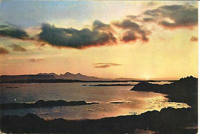 Sunset over Rhum and Eigg from Arisaig - Unposted Postcard