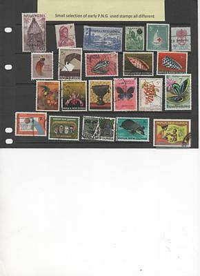 Papua New Guinea selection of early used stamps all different