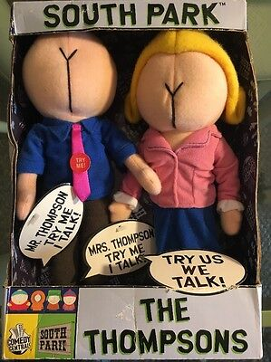 2002 South Park The Thompsons Talking Plush Dolls Figure w/ Original Tags