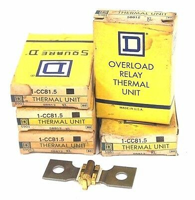 Lot Of 5 Nib Square D, Cc81.5 Thermal Unit 58812, 1-Cc81.5