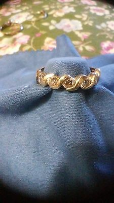Estate Sale Jewelry ~ Diamond Anniversary ~ Ring Size 9 ~ 10K Gold