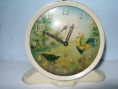 Smith's animated alarm clock. c1950's. Good working order. Ideal Christmas gift.