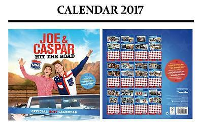 Joe & Caspar Hit The Road Official Calendar 2017 + Joe & Caspar Fridge Magnet