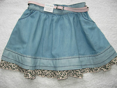 M&S INDIGO COLLECTION pretty  Denim Skirt  - Age 2-3 Years New/Tags