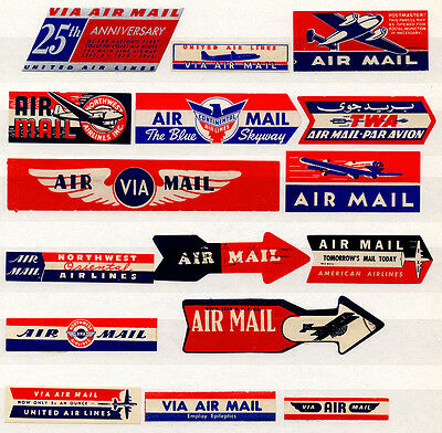 (I.B) US Cinderella : Airmail Etiquettes Collection