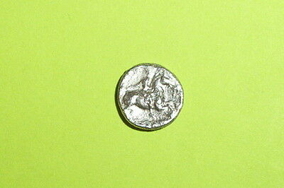 RARE Ancient GREEK SILVER COIN Thessalian horseman LARISSA THESSALY 350 BC old