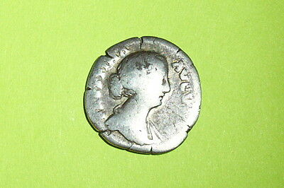Authentic Ancient ROMAN SILVER COIN goddess FAUSTINA JR drum mother Cybele lion