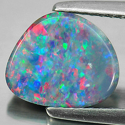 Good Color 1.76 Ct. Natural Free Form Cab Multi Color Doublet Opal Gemstone