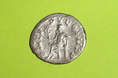 Ancient ROMAN SILVER COIN apollo GORDIAN III seat branch antoninianus throne old