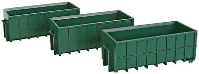 Walthers SceneMaster HO Scale Train Scenery Large Dumpsters (Assembled 3-Pk)