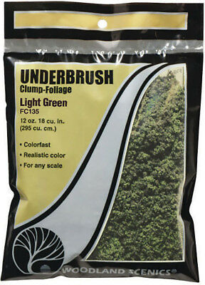 Woodland Scenics Model Railroad Landscape Underbrush Clump-Foliage Light Green