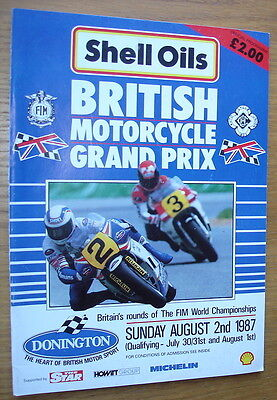 1982 British Motorcycle Grand Prix, Donington. 80 page official programme
