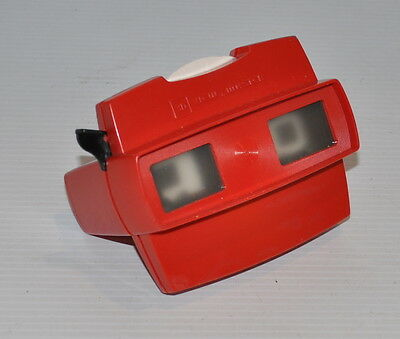 VIEW-MASTER red 3D Viewer Made in Belgium 1960s