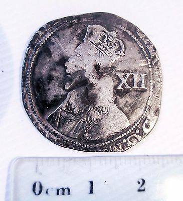 CHARLES I HAMMERED SILVER SHILLING coin 1st