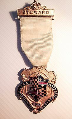THE ROYAL MASONIC INSTITUTION FOR GIRLS 1945 STEWARDS JEWEL medal