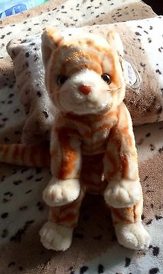 Ty Beanie Buddy - Amber - Ginger Striped Cat