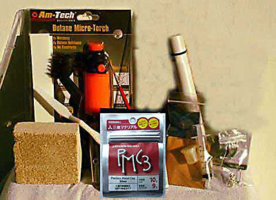 Deluxe Precious Metal Clay 9 grms PMC3 Silver Kit