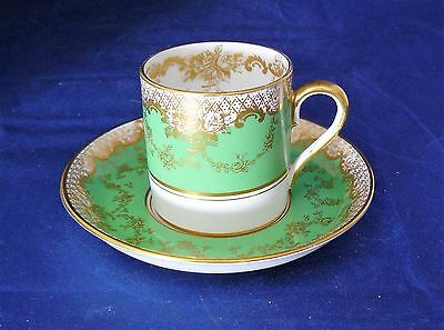 CROWN STAFFORDSHIRE - Gilded COFFEE CUP & SAUCER - Pattern # 413006 - Excellent