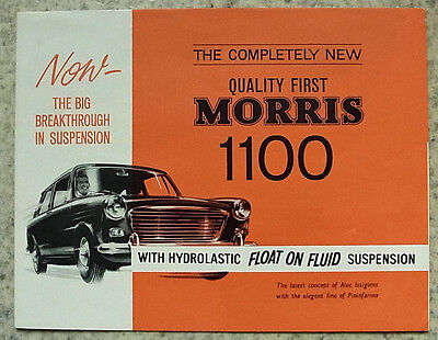 MORRIS 1100 Car Sales Brochure March 1962 #H&E6216