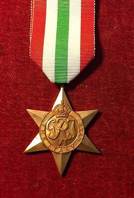 Original Ww2 Italy Star Medal