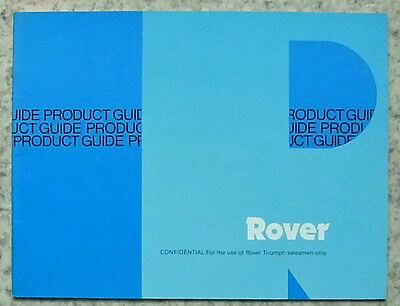 ROVER 2300 2600 3500 SALESMAN'S Product Guide 1980 #PT 338/2/3/80 CONFIDENTIAL