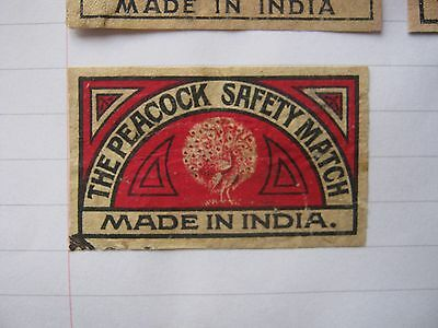 Old Indian Bird Matchbox Label.design 2.
