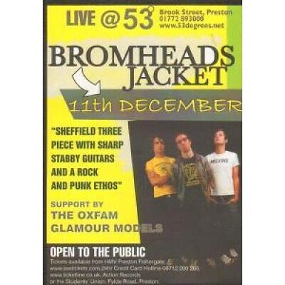 BROMHEADS JACKET Live At 53 Degrees FLYER A6 1-Sided Flyer For Gig With Support