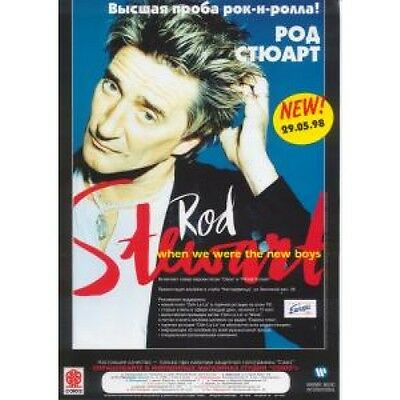 ROD STEWART When We Were The New Boys FLYER Promo Full Colour Flyer For New