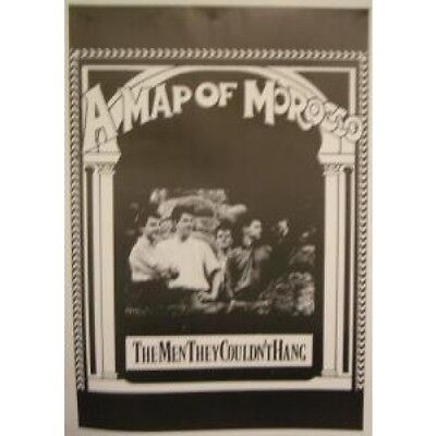MEN THEY COULDN'T HANG A Map Of Morocco POSTER 60 X 86 Cm Black And White