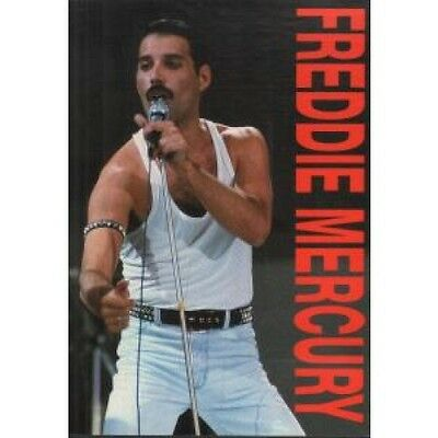 """FREDDIE MERCURY Heroes CARD 4""""X5.5"""" Licensed Colour Postcard With Live On Stage"""