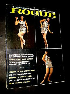Vintage Mens August 1967 Photo Illustrated Nude Art ROGUE Magazine Parley Cooper