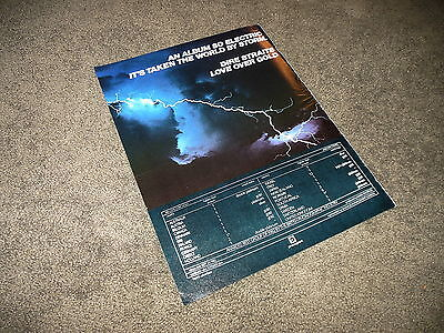 DIRE STRAITS Love Over Gold BILLBOARD 11x14 Ad Poster