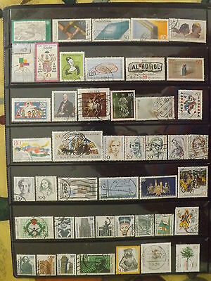 Quantity of West Germany stamps FU