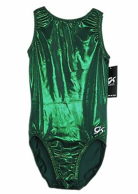 GK Elite Gymnastics Leotard - Green - AM Adult Medium NEW
