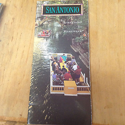 San Antonio TX Visitor Guide Booklet w/ fold out map