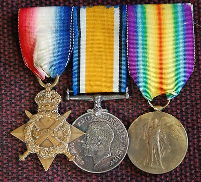 WWI Medal Trio to 1958 &404369 Pte C. Robertson, R. Highrs / R.A.F.