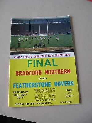 1973 Rugby League Cup final Bradford Northern v Featherstone Rovers 12.5.1973
