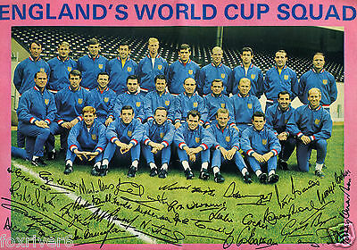 ENGLAND 1966 WORLD CUP SQUAD Signed Photograph - Winners Full Squad - preprint
