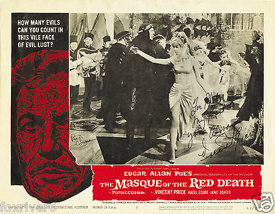VINCENT PRICE Signed Lobby Card - Horror Film Actor - Preprint