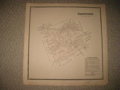 Rare Antique 1873 Easttown Township Reeseville Chester County Pennsylvania Map N