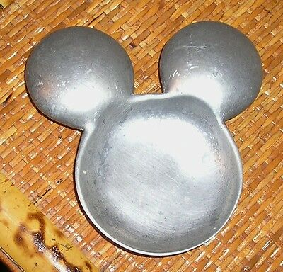 Mickey Mouse Ears Candle Holder Metal Pewter Disney