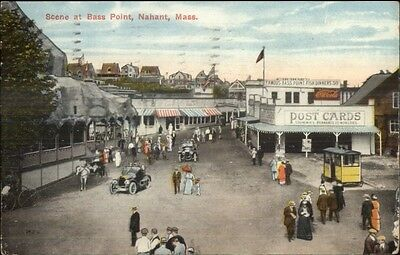 Nahant MA Bass Point Coca Cola & POST CARDS Sign Deltiology Postcard c1910