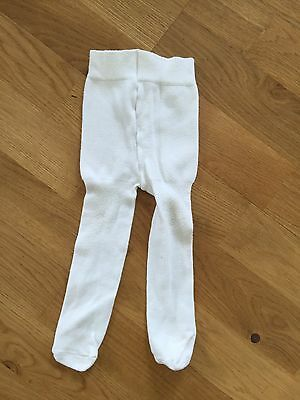 Marks & Spencers Baby White Tights Size 6-12 Months