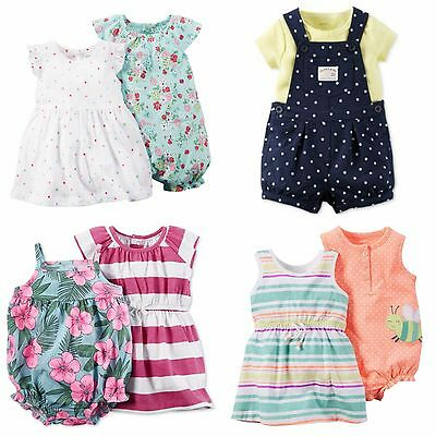 NWT Baby Girls Lot of 7 Carter's Outfits Dress Sets sz 3 Months