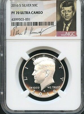 2016 S Silver Kennedy Half Dollar NGC PF70 Ultra Cameo (001)