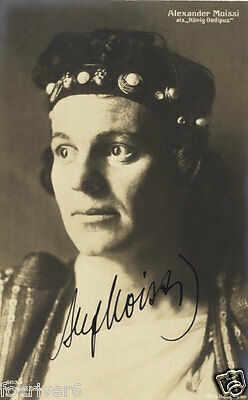ALEXANDER MOISSI Signed Photograph - Theatre & Stage Actor - preprint