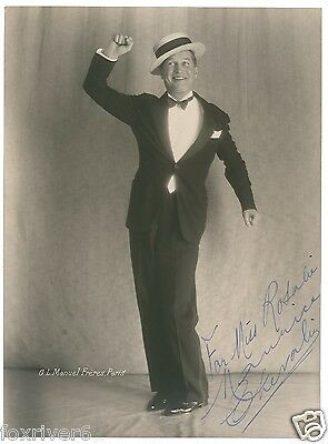 MAURICE CHEVALIER Signed Photograph - French Film Star Actor & Singer